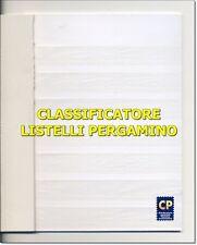 CLASSIFICATORE 7 LISTELLI IN PERGAMINO 4 pagine (8 facciate) - VENDITA da 1 pz.