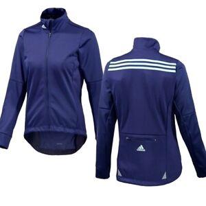 Adidas Rsp Softshell Bike Jacket Ladies Winter Bicycle Jersey Thermal Warm Blue