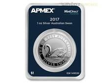 1 $Dólar Swan Cisne AUSTRALIA apmex mintdirect Premier 1 OZ PLATA 2017