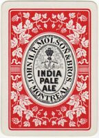 Playing Cards 1 Single Card Old Wide MOLSON Brewery Advertising PALE ALE Beer