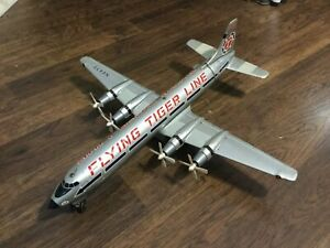 "FLYING TIGER SWING TAIL Plane BATTERY OP MADE in JAPAN by MARX LARGE 19"" Vintage"