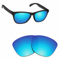 Hawkry Polarized Replacement Lenses for-Oakley Frogskins Ice Blue Mirror