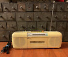 Vintage Sharp Boombox QT-50 AM/FM Radio & Cassette Player Stranger Things WORKS