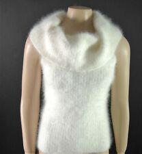 ULTRA SEXY Fuzzy Soft Sleeveless Cowl Neck Sweater!