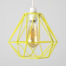 GIALLO CONTEMPORANEA METALLO FILO DIAMOND Design Soffitto Luce Ombra Illuminazione Casa