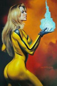 Marvel Crystal Comic Artwork Boris Vallejo Female Superhero GGA Inhuman Princess
