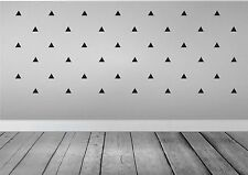 Triangle Wall Stickers : 36 per pack - Choice of colour