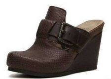 OTBT Mule Wedge Sandals Rusk Dark Brown 6.5 New Free Shipping