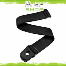 D'Addario Planet Waves Black Poly Guitar Strap with Planet Lock Ends - PWSPL200