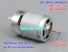 DC3.7V-7.4V 46000RPM High Speed High Power 380 DC Motor for RC Aircraft HM Model