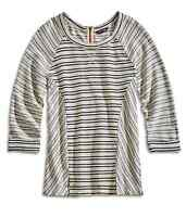 Lucky Brand - M - NWT - Blue Striped 3/4 Sleeve French Terry Sweatshirt Top