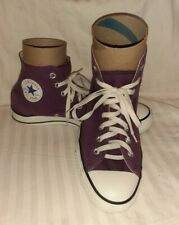 Vintage Purple 80's 90's Canvas Converse Hi-Top Athletic Tennis Shoes Size 10
