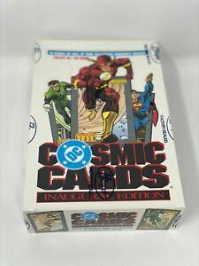 1991 DC Comics Cosmic Cards Inaugural Edition Impel Skybox Sealed Box 36 Packs