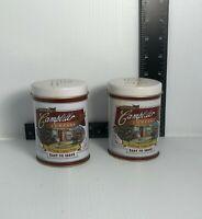 Vintage 1996 Tin/Metal Campbells Soup Salt & Pepper Shakers