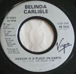 """Belinda Carlisle - Heaven Is A Place On Earth - 7"""" Vinyl Single 1987"""