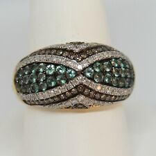 Alexandrite & Diamond Ring 14K Yellow Gold Size 10 Cocktail Fashion