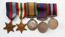 Canadian World War II 5 Medal Group, 39-45 Star, Italy, Defence, CVS, 39-45 War