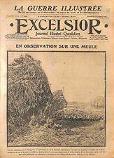 Feldgrauen Deutsches Heer Observation Meule Foin Bataille de la Marne WWI 1914