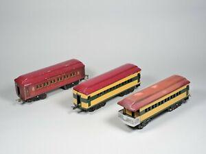 Vintage American Flyer Standard Gauge Passenger Cars (Lot of 3)