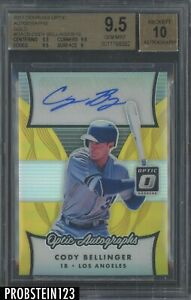 2017 Donruss Optic Gold Prizm Cody Bellinger RC Rookie 3/10 BGS 9.5 w/ 10 AUTO