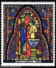 1966 - FRANCE NEUF**VITRAIL DE LA SAINTE CHAPELLE-PARIS - 1f - TIMBRE - Yt.1492