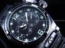 Mens Invicta Corduba Ibiza Carbon Fiber Chronograph Black Watch New W/ Warranty