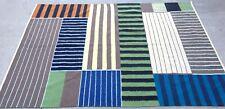 8x4' Flat Weave Rug Red/Blue Classic Modern Design HANDMADE Wool L.A,Cal pickup
