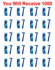 1000-Pack Super Max Men's Disposable Razors Twin Blade Shavers Bulk Wholesale