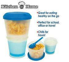 Cereal To Go Food Storage Folded Water Bottle Travel Food Container Snack Keeper