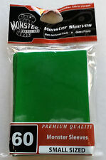 Yugioh Monster Protectors GREEN Glossy Non-Textured Deck Protectors/Sleeves