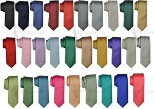 Professional Men Tie Classic Satin Solid Office Party Wedding Interview Job Prom
