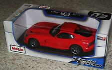 NICE!! 2013 RED SRT VIPER GTS 1:18 SCALE MAISTO SPECIAL EDITION BRAND NEW!!