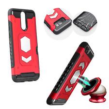 ^ Forcell Magnet Handy Schale Halter Metal Etui Case Samsung Galaxy A6 Rot
