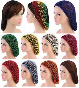 Women Vintage Ladies Soft Rayon Hair Net Snood Crochet Hairnet Cap UK Seller