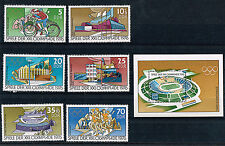 Briefmarken mit Sport- & Spiel-Motiven aus der DDR