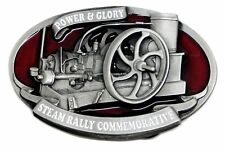 Stationery Engine Belt Buckle Power & Glory Steam Rally Authentic Dragon Designs