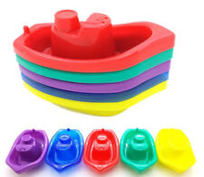 5 x Baby Floating Kids Bath Tub Plastic Boats Toys Set
