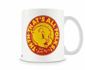 Officially Licensed Looney Tunes / Porky Pig - That's All Folks! Coffee Mug
