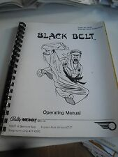 Istruzioni in inglese con quadro piani per bally flipper BLACK BELT