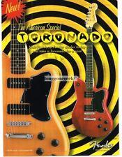 2002 Fender Toronado Electric Guitar Vtg Print Ad