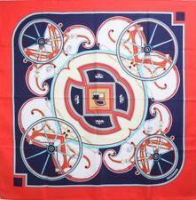 "Authentic HERMES Silk Carre 35"" 90cm Scarf ""Washington's Carriage"" #21913ER"