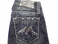 MISS ME LITTLE GIRLS KIDS SZ 7, 10, 14 JEANS RHINESTONE METALLIC M SKINNY