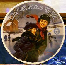 """Norman Rockwell Knowles Fine China """"Christmas 1982"""" Plate#3675J BradEx Exchange"""