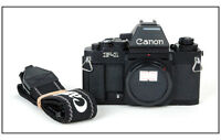Mint Canon new F-1 35mm Film Camera body w/ AE Finder