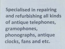 Antique Telephones & Gramophones Repair Service