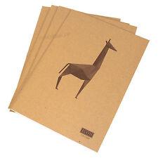4 X A4 Papel Liso Blanco 110gsm Animal Portátiles Dibujo de 80 Páginas Libros De Dibujo