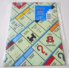 Vintage MONOPOLY Wrapping Paper 1 Sheet 2.5 ft X 1.1 yd SEALED