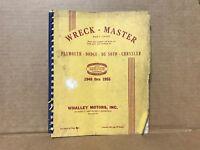 1949-1955 PLYMOUTH DODGE DESOTO CHRYSLER WRECK-MASTER BODY CHART