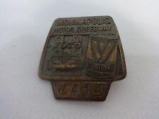 1976 Indianapolis 500 Bronze Pit Badge Johnny Rutherford Valvoline Motor Oil