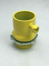 """Thomas & Betts TC722A 3/4"""" EMT Set Screw Connector Insulated Yellow (50) NEW"""